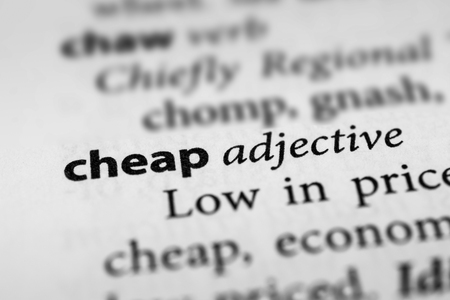 stingy: Cheap Stock Photo