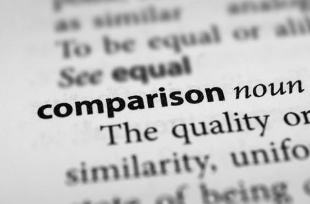 differentiation: Comparison Stock Photo