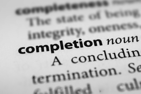 consummation: Completion