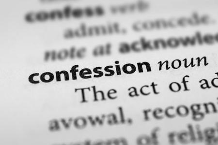 confession: Confession