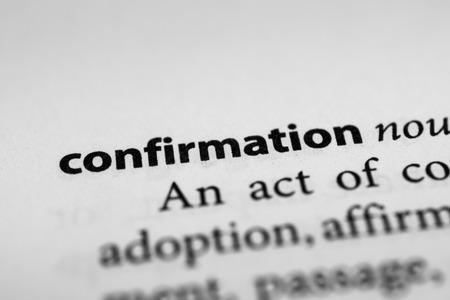 formalization: Confirmation Stock Photo