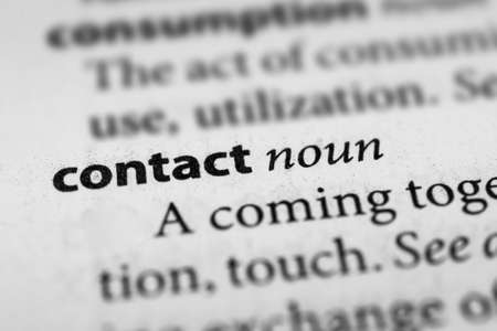 contact: Contact Stock Photo