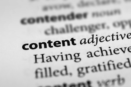 gratified: Content Stock Photo