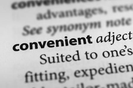 expedient: Convenient Stock Photo
