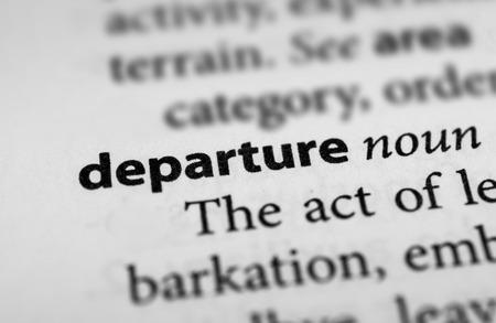 Departure Фото со стока