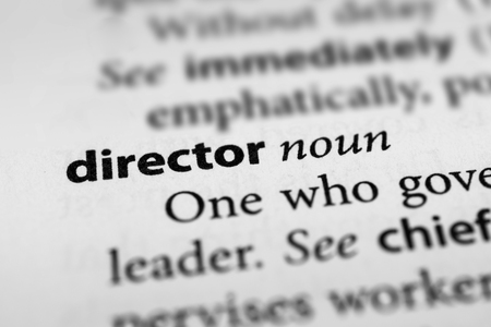 the director: Director Stock Photo