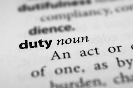 levy: Duty