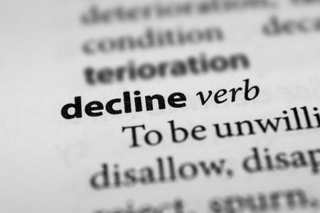 spurn: Decline Stock Photo