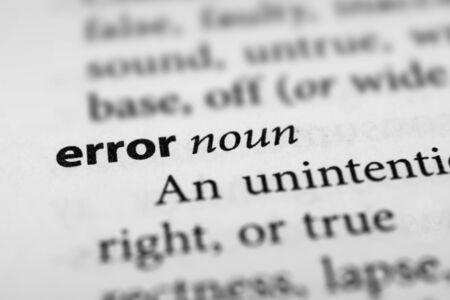 misconception: Error