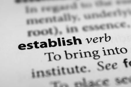 establish: Establish Stock Photo