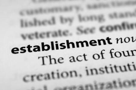 establishment: Establishment