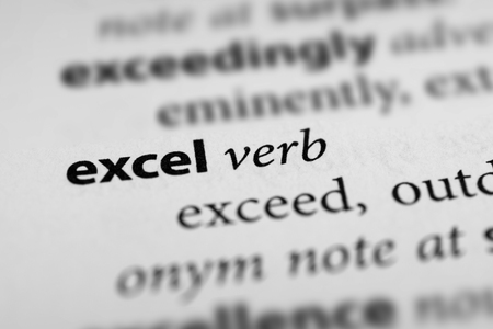 surpass: Excel Stock Photo