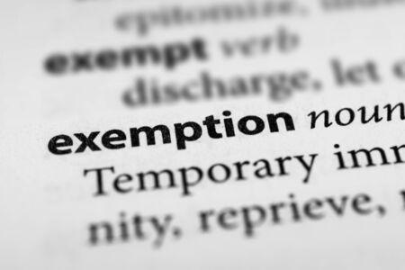 dispensation: Exemption