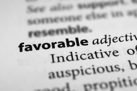 and is favorable: Favorable Stock Photo