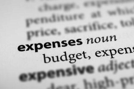 Expenses Фото со стока