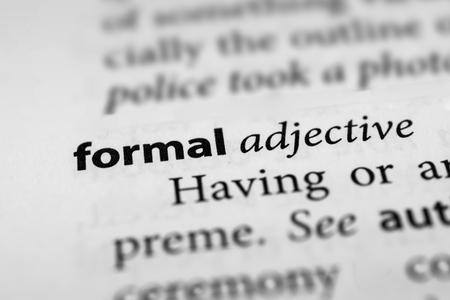 inflexible: Formal