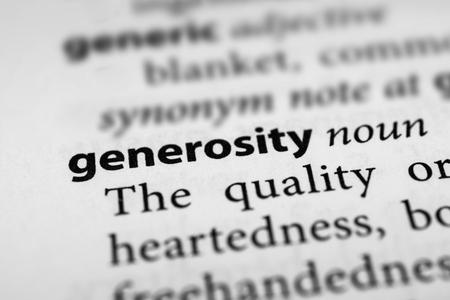 generosidad: Generosidad
