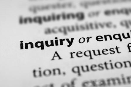 inquiry: Inquiry Stock Photo