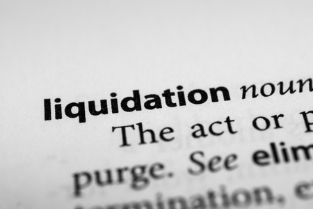 liquidation: Liquidation Stock Photo