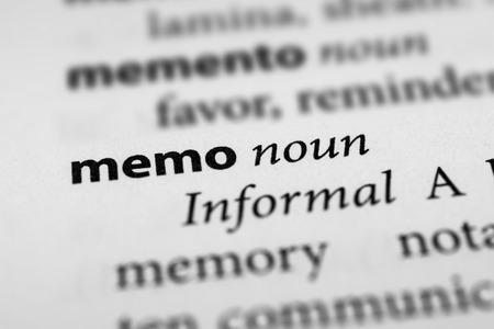 memo: Memo
