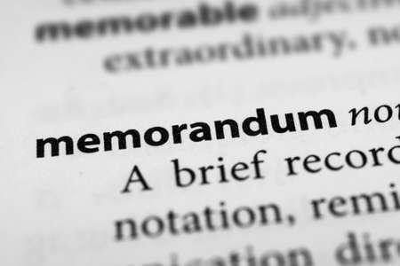memorandum: Memorandum Stock Photo