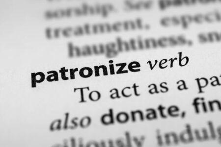 supercilious: Patronize