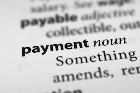 remuneraci�n: Payment Foto de archivo