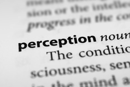 perception: Percepci�n Foto de archivo