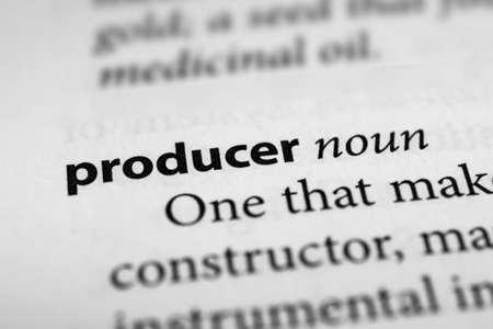 producer: Producer Stock Photo