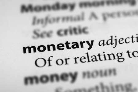 budgetary: Monetary