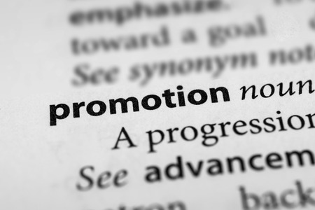 preferment: Promotion Stock Photo