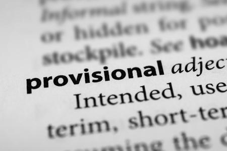 provisional: Provisional