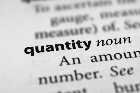 Quantity Stok Fotoğraf