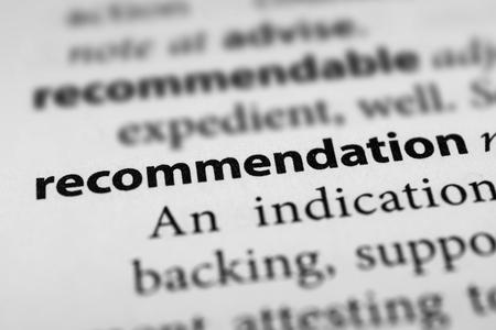 Recommendation Stok Fotoğraf