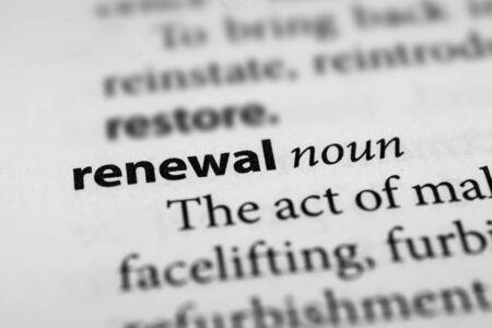 renewal: Renewal