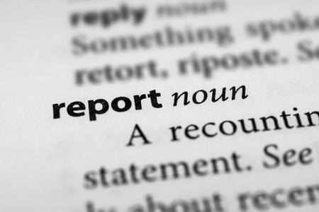 publicize: Report Stock Photo
