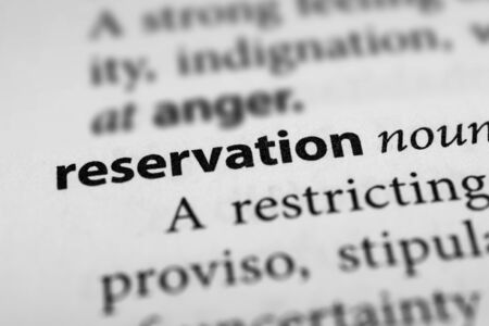 unease: Reservation
