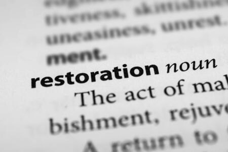 restoration: Restoration Stock Photo