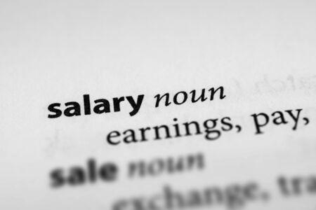 remuneraci�n: Salario Foto de archivo