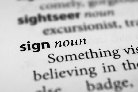 ideogram: Sign Stock Photo