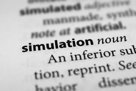 simulations: Simulation Stock Photo