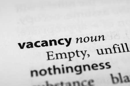 vacancy: Vacancy Stock Photo