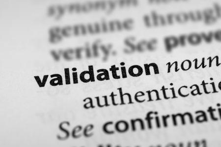 testimony: Validation