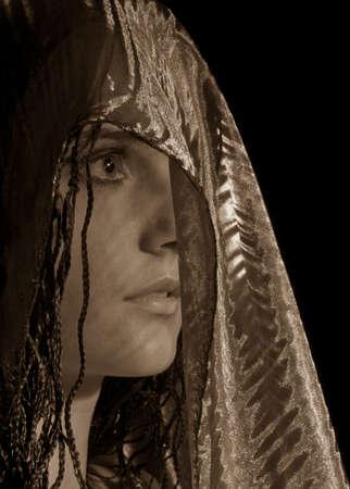 Femme en foulard Banque d'images - 6529339