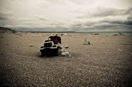 Toy car in sand Stock Photo - 6551874