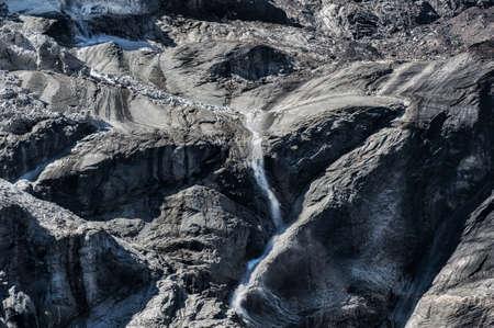 icefall: Icefall on glacier in Nepal mountains, Manaslu