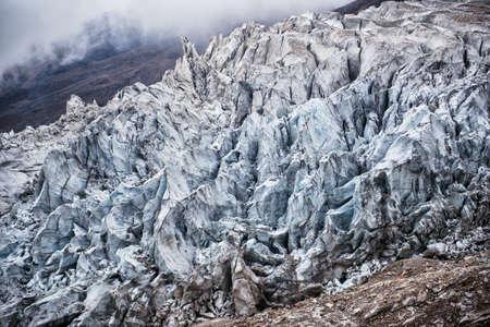 Glacier dans les montagnes du Népal, Manaslu Banque d'images