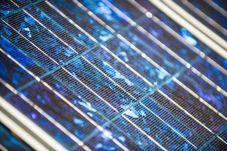 Des panneaux solaires sur le foor Banque d'images