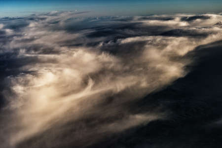 Aerial Shot of Sky Background with Clouds