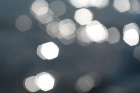 Abstract background with non-uniformly scattered light polygons Stock Photo